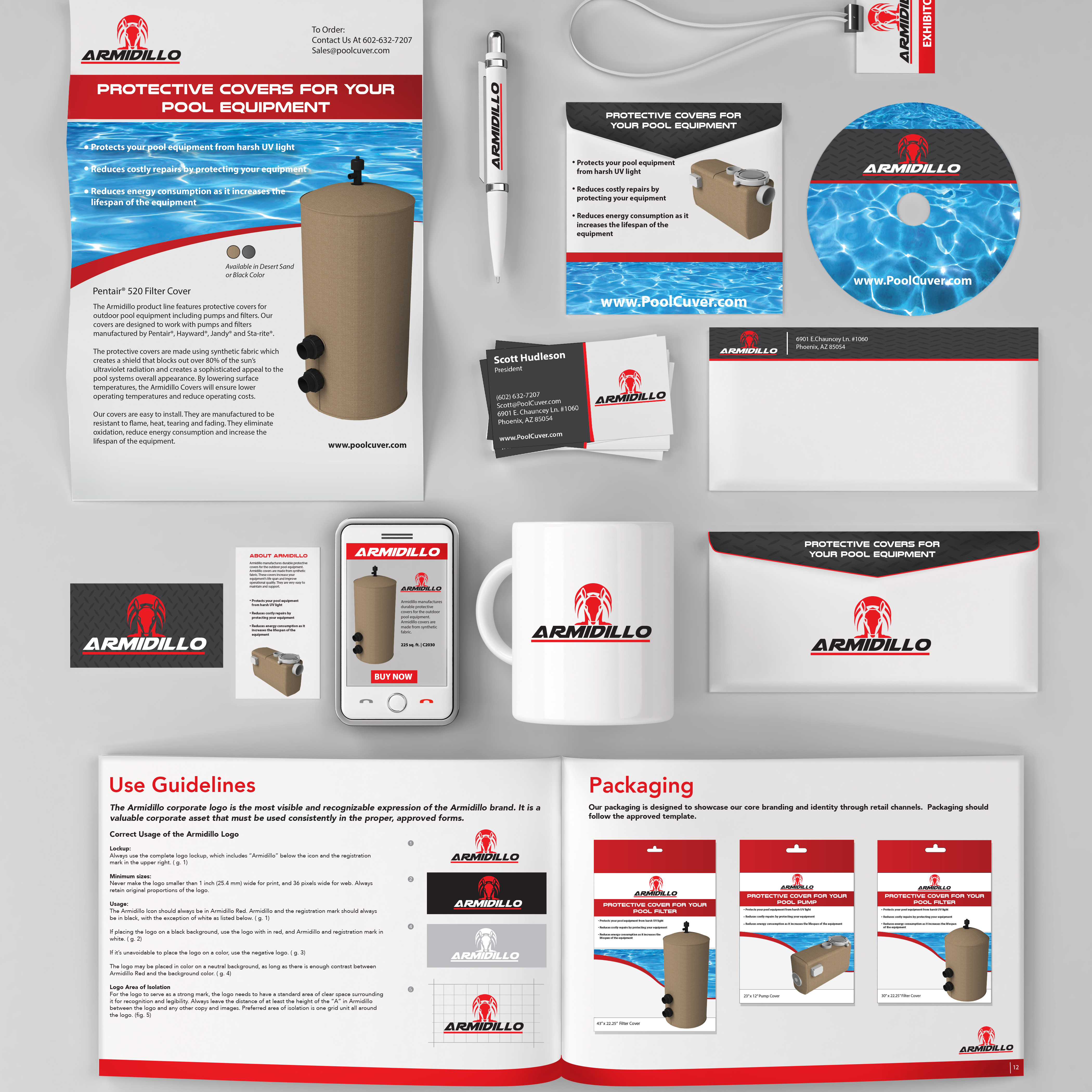 Brand identity created by avadium design for brochures, graphics, envelopes, catalogs and 3d renderings